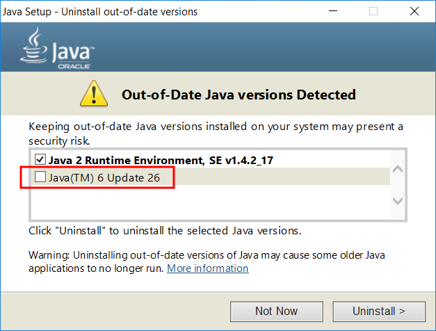 Updating Java