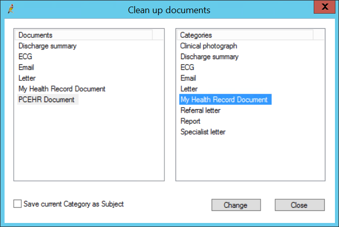 Clean up document categories
