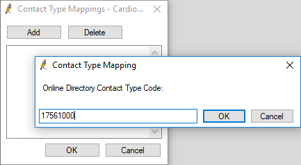 Add Contact Type Mapping