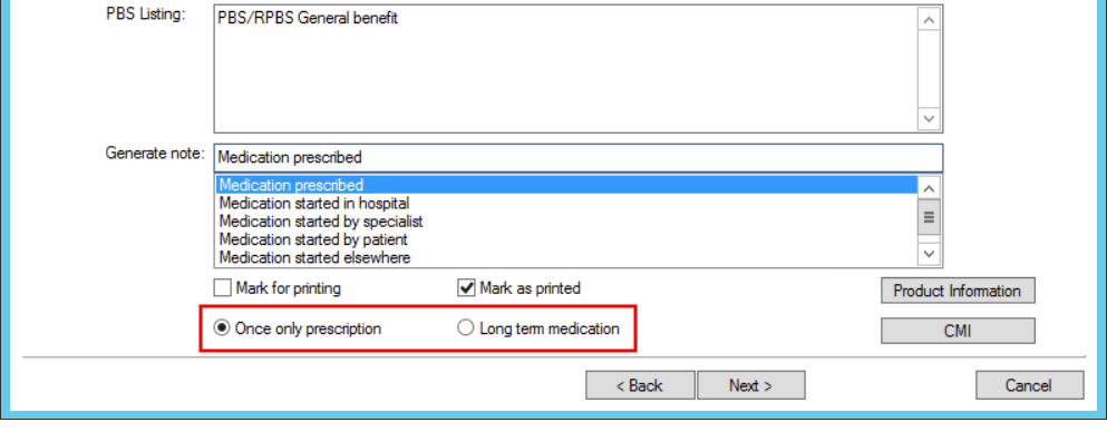 Select Repeats option when adding Rx
