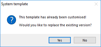 Customise System Templates Prompt