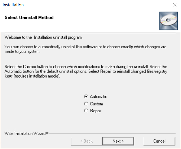 Installation Uninstall program