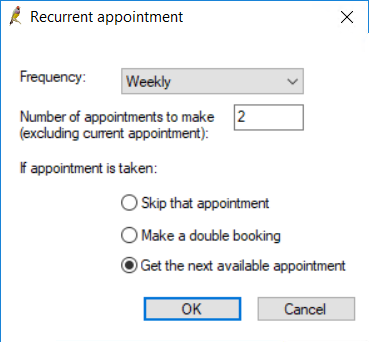 Recurrent appointment