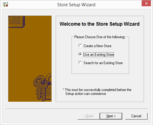 Store Setup Wizard Welcome screen