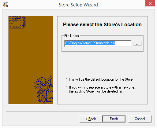 Store Setup Wizard Store Location