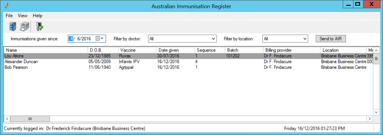 how to get immunisation records from medicare