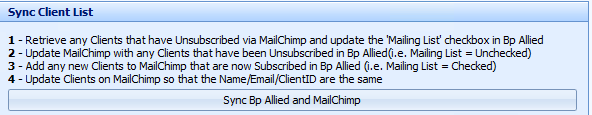 5. Sync Bp Allied and MailChimp