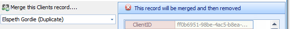 1. Merge this Client's Record